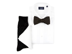 Black Tie Dress Code Shirt & Tie Combo