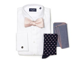 Blush Pink Bow Tie Wedding Combo