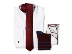 Burgundy Necktie Wedding Combo