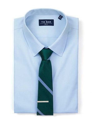 Blue Shirt & Green Tie Combo