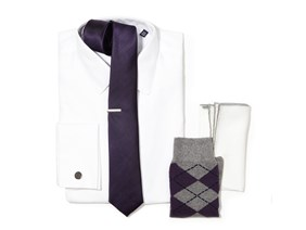 Eggplant Necktie Wedding Combo