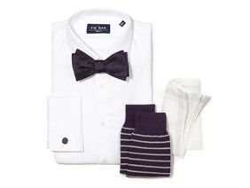 Eggplant Bow Tie Wedding Combo
