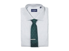Green Tattersall Shirt & Dotted Tie Combo