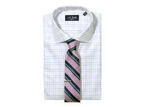 Large Tattersall Shirt & Stripe Tie Combo