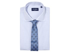 Mini Tattersall Shirt & Medallion Tie Combo
