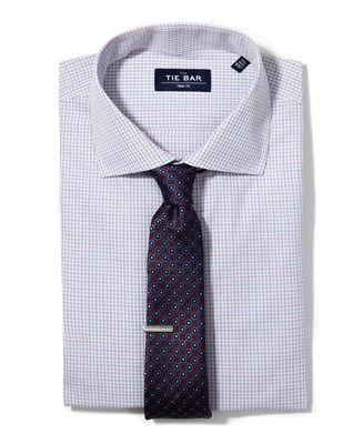 Multi Check Shirt & Medallion Tie