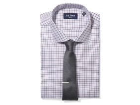 Tattersall Shirt & Solid Tie Combo