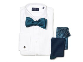 Teal Bow Tie Wedding Combo