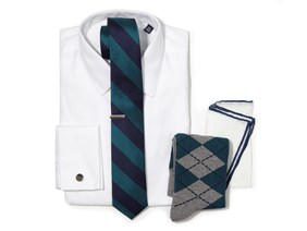 Teal Necktie Wedding Combo