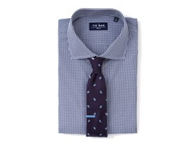 Paisley on Gingham Shirt & Tie Combo