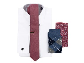 BHLDN Black Cherry Necktie Combo