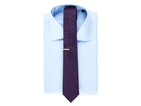 Blue Shirt & Purple Tie Combo