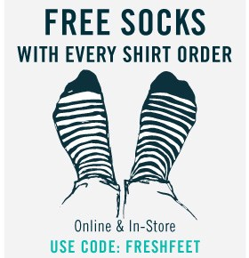 Free socks with shirt