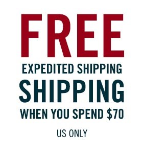 Free expedited shipping when you spend $70.