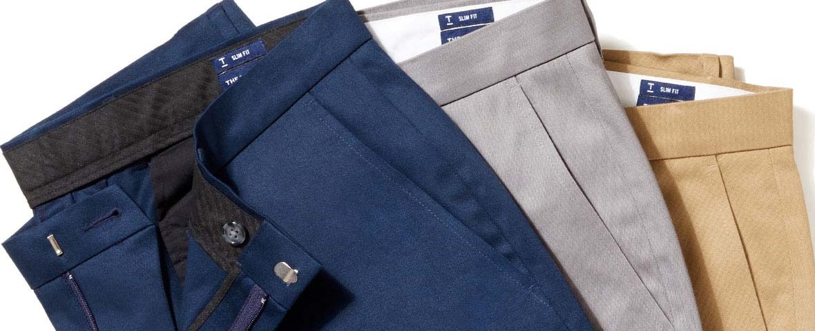 Non-Iron Stretch Cotton Chinos And Wool Dress Pants