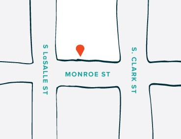 The Tie Bar - Chicago Loop Store Location Map