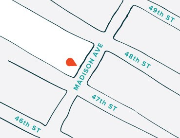 The Tie Bar - New York Store Location Map