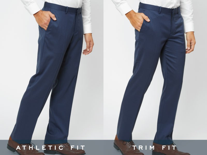 The Tie Bar pants, angled front and side view