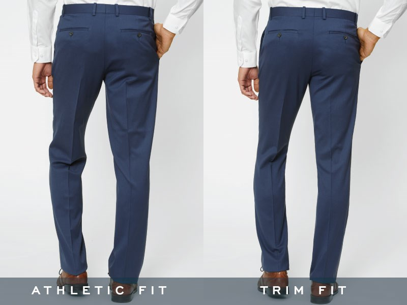 The Tie Bar pants, backside view