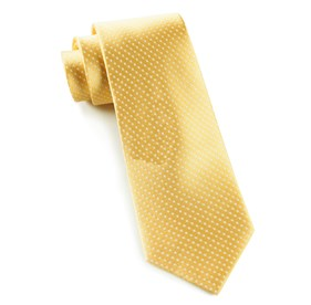 Pindot Yellow Gold Ties
