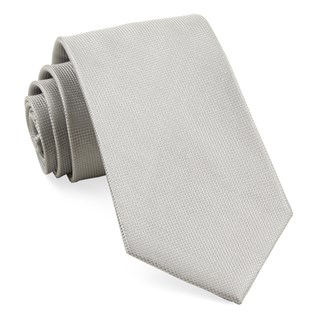 solid texture silver ties