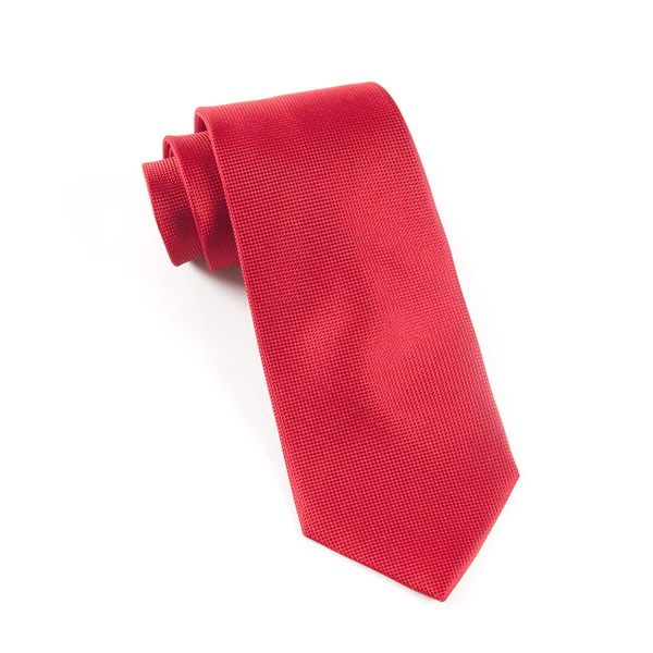 Red Solid Texture Tie