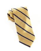 Ties - Trad Stripe - Gold
