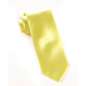 solid satin yellow ties
