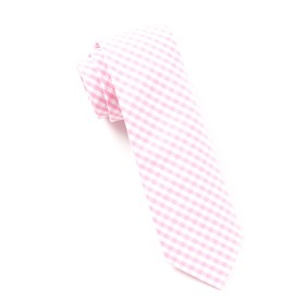 Pink Novel Gingham ties