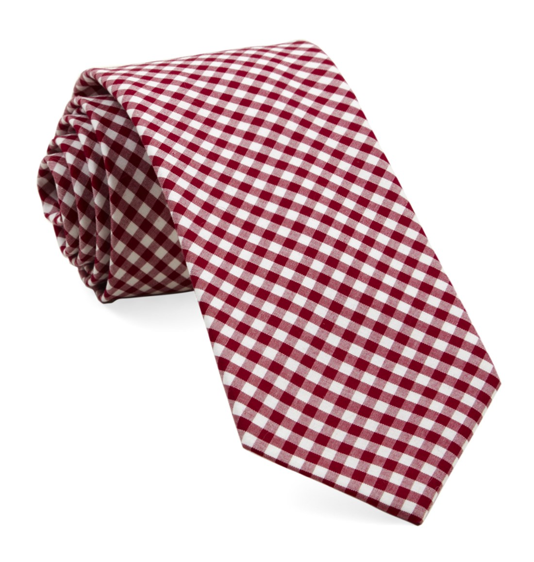 The Tie Bar 100/% Cotton Red Petite Gingham Pocket Square