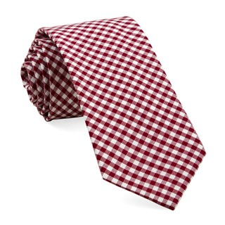 Novel Gingham Red Tie