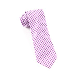 Plum Novel Gingham ties