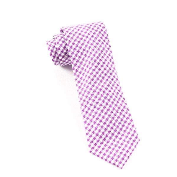 Plum Novel Gingham Tie