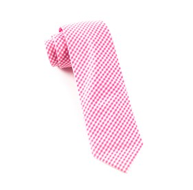 Hot Pink Novel Gingham ties