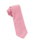 Ties - Petite Gingham - Red