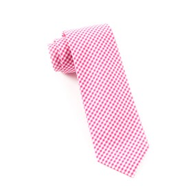 Petite Gingham Hot Pink Ties
