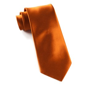 Burnt Orange Solid Satin ties