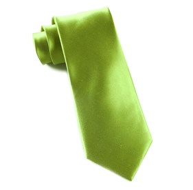 Lime Solid Satin ties