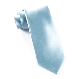 Baby Blue Solid Satin boys ties