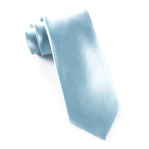 solid satin baby blue ties