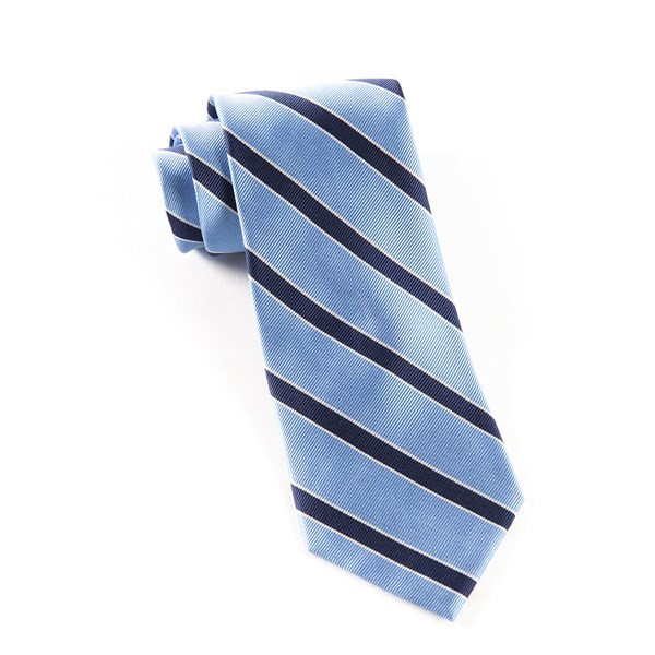 Light Blue Honor Stripe Tie