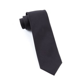 Black Solid Cotton ties