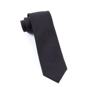 solid cotton black ties