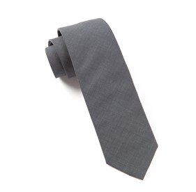 Metallic Grey Solid Cotton ties