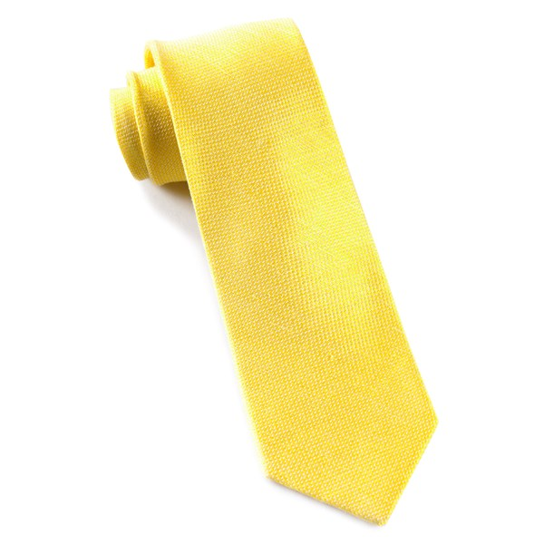Butter Gold Solid Linen Tie