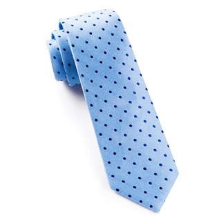 Dotted Dots Sky Blue Tie