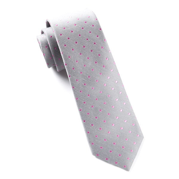 Grey Dotted Dots Tie