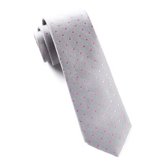 dotted dots grey ties