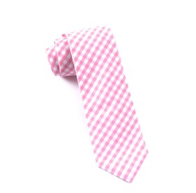 New Gingham Pink Ties