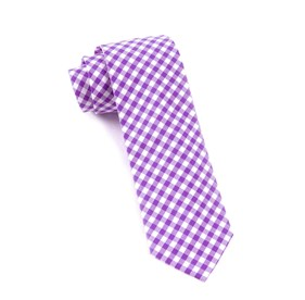 Plum New Gingham ties